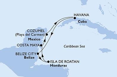 MSC_Armonia_Kuba_Meksiko